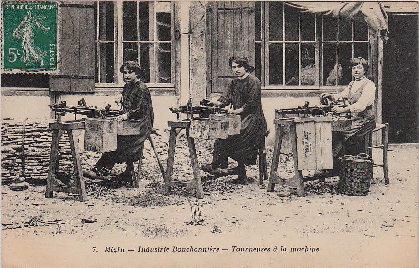 Industrie_Bouchonnière_(liège)_-_Ouvrières_Tourneuses_à_la_machine_(Mézin,_Lot-et-Garonne) - copie